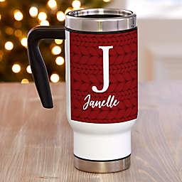 Christmas Sweater Monogram 14 oz. Commuter Travel Mug