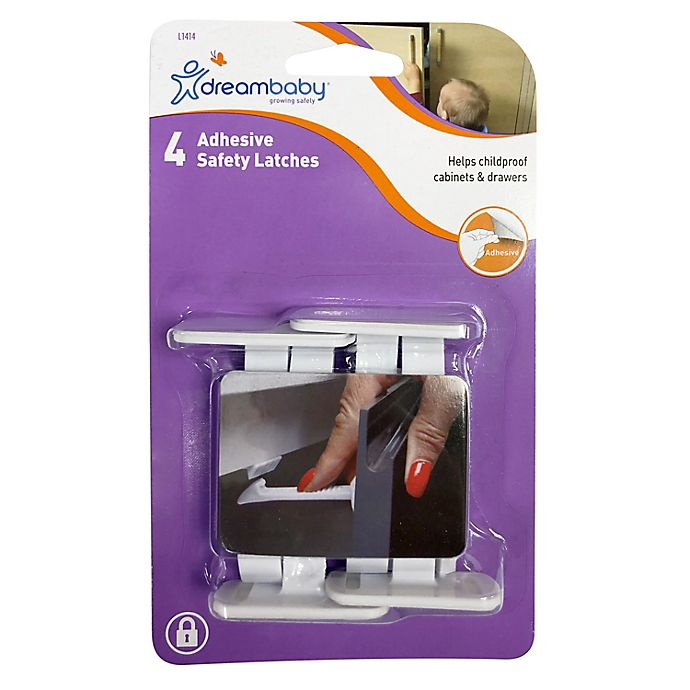 Alternate image 1 for Dreambaby® 4-Pack Adhesive Safety Latches in White
