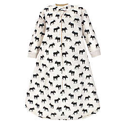 Hudson Baby® Size 0-6M Moose Long Sleeve Wearable Blanket in Black