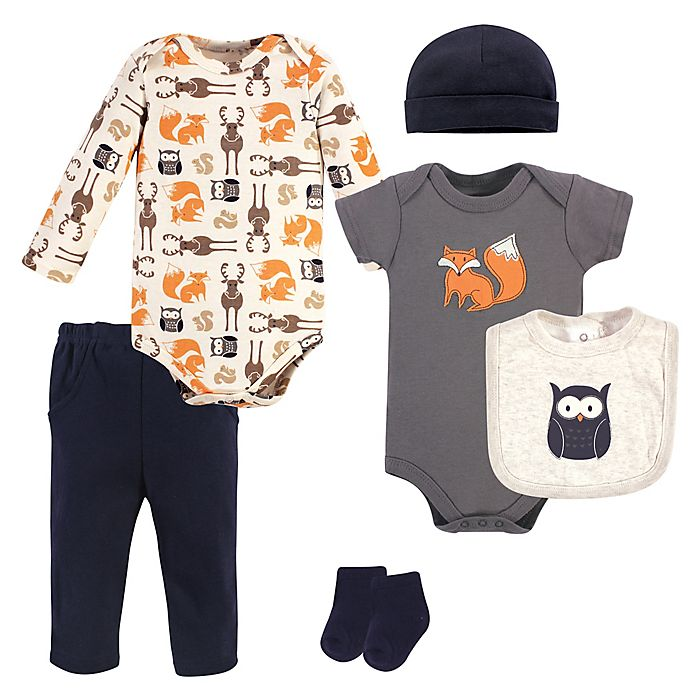 Alternate image 1 for Hudson Baby® 7-Piece Orange Fox Layette Set