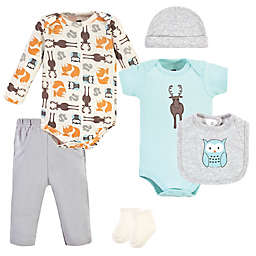 Hudson Baby® Size 6-9M 7-Piece Moose Layette Set in Grey