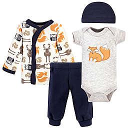 Hudson Baby® Preemie 4-Piece Fox Layette Set in Orange