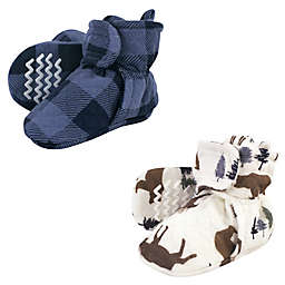 Hudson Baby® 2-Pack Quilted Booties