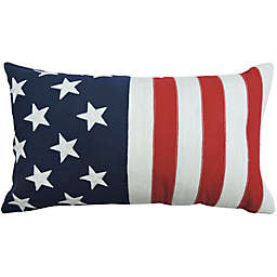 Americana Flag Oblong Throw Pillow