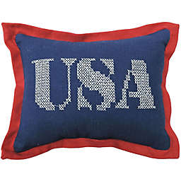 "Americana ""USA"" Oblong Mini Throw Pillow"