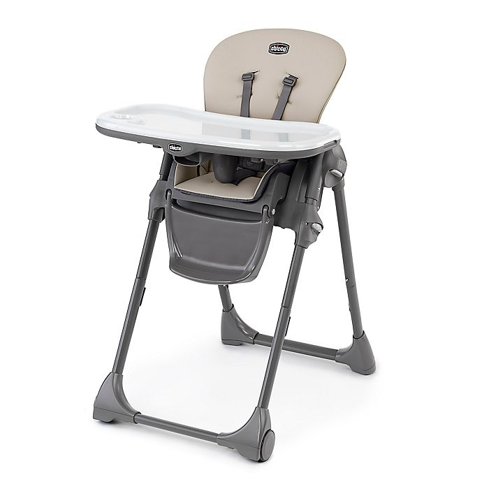 Alternate image 1 for Chicco Polly® Space-Saving Fold Highchair in Taupe