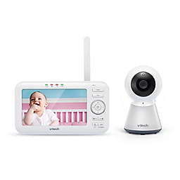 VTech® VM5254  5-Inch Digital Video Baby Monitor with Adaptive Night Light in White