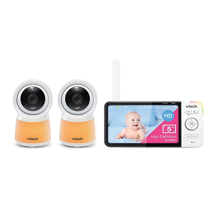 Alternate image 1 for VTech® RM5754-2 HD 5-Inch Smart Wi-Fi 1080p Video Baby Monitor in White