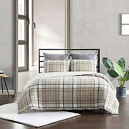 UGG® Beacon 3-Piece Full/Queen Quilt Set in Oatmeal Plaid