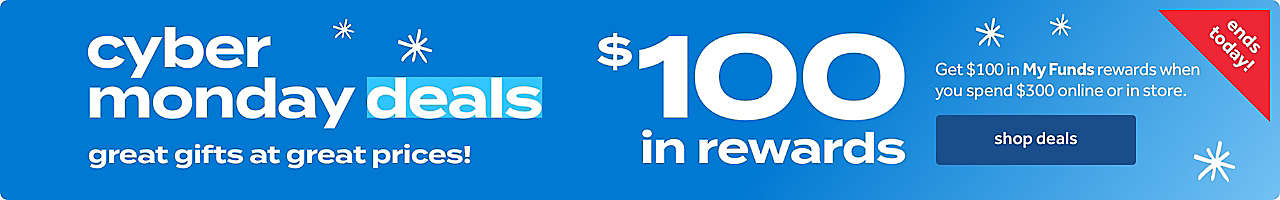 Get $100 in My Funds rewards when you spend $300 online.