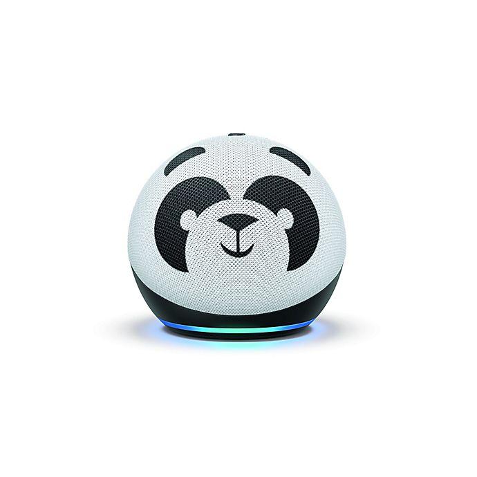 Alternate image 1 for Amazon Panda's Kid Edition Echo 4th Generation in White/Black