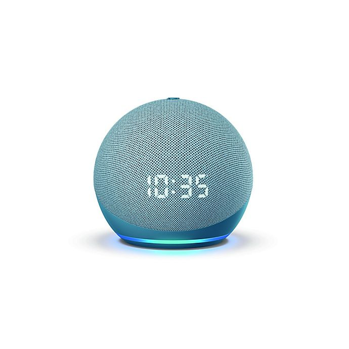 Alternate image 1 for Amazon Echo Dot 4th Generation with Clock