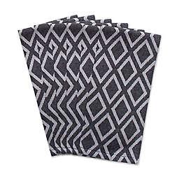Diamond Napkins in Black & White (Set of 6)
