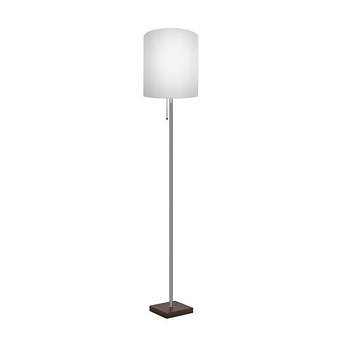 Alternate image 1 for Adesso® Stick Floor Lamp in Brushed Steel