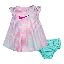 Nike® 2-Piece Pixel Multicolor Dress and Diaper Cover Set
