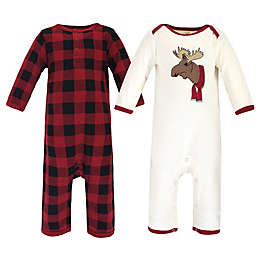 Touched by Nature® Family Holiday Organic Cotton Moose Pajamas in Red (Set of 2)