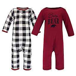 Touched by Nature® Family Holiday Bear Baby Organic Cotton Coverall Pajamas (Set of 2)