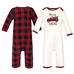 Touched by Nature 2-Piece Organic Cotton Long Sleeve Holiday Pajama Set in Red