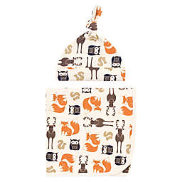 Hudson Baby® Swaddle Blanket and Cap in Forest