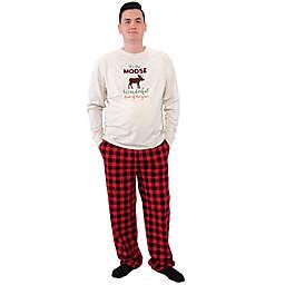 HB Family Holiday Pajamas, Moose , Men Small