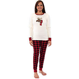 Touched by Nature® Women's 2-Piece Moose Organic Cotton Pajama Set in Red