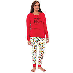 Touched by Nature® Women's 2-Piece Merry Organic Cotton Pajama Set in Red