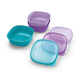 NUK Stacking Bowl and Lid, Assorted, 3 Pk, 4+ Mos