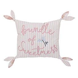 NoJo® Farmhouse Chic Rectangular Throw Pillow in Pink