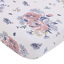 NoJo® Farmhouse Chic Fitted Crib Sheet Pink