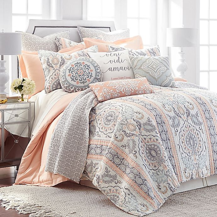Alternate image 1 for Levtex Home Darcy Reversible Quilt Set