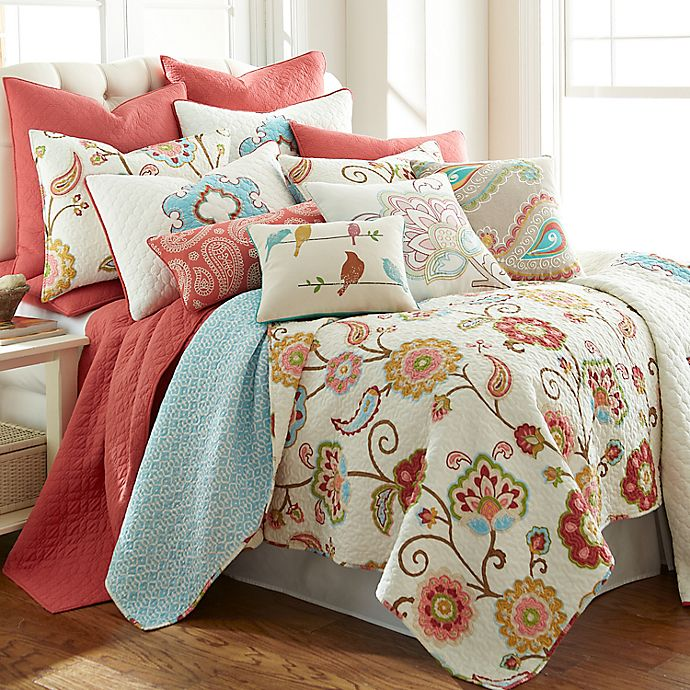Levtex Home Araya 3 Piece Reversible Quilt Set In Red Bed Bath Beyond