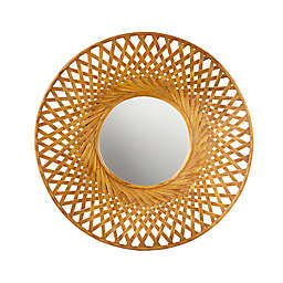 Madison Park™ Reed 26.5-Inch Round Bamboo Wall Mirror in Natural