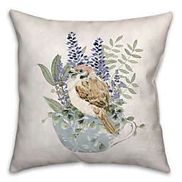 Designs Direct Floral Bird Square Throw Pillow