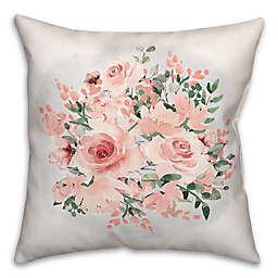Pink Bouquet 18x18 Throw Pillow