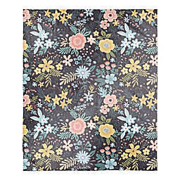 Designs Direct Bright Floral Pattern Throw Blanket in Pink