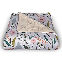 Designs Direct Floral Pattern Throw Blanket in Pink