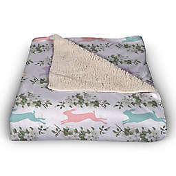 Pastel Rabbits 50x60 Throw Blanket