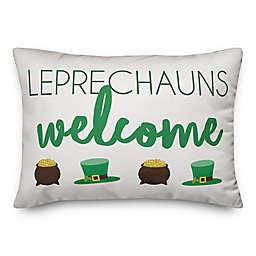 Leprechauns Welcome 14x20 Throw Pillow
