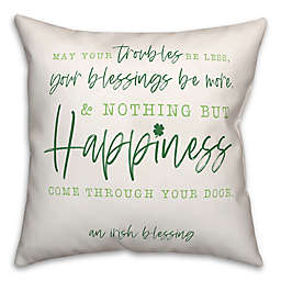 """Designs Direct """"Irish Kisses"""" 18-Inch Square Throw Pillow in Green"""