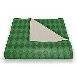 Green Diamond Pattern 50x60 Throw Blanket