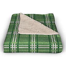St. Patrick's Plaid 50x60 Throw Blanket
