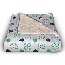 Simple Clover Pattern 50x60 Throw Blanket