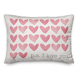 P.S. I Love You 14x20 Throw Pillow