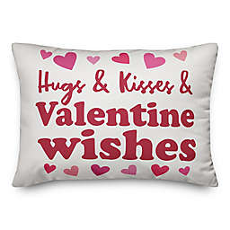 Hugs and Kisses and Wishes 14x20 Throw Pillow