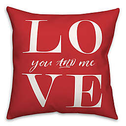 Love Letters 18x18 Throw Pillow