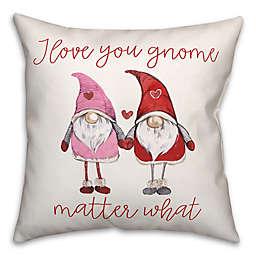 Love Gnomes 18x18 Throw Pillow