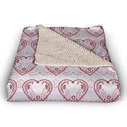 Interlocking Hearts Pattern 50x60 Throw Blanket
