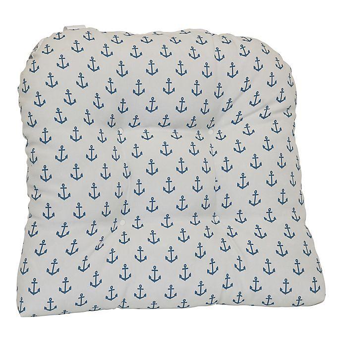 Alternate image 1 for Destination Summer Print Indoor/Outdoor U-Cushion in Grey Anchor