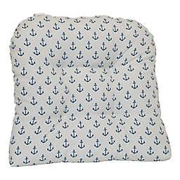 Destination Summer Print Indoor/Outdoor U-Cushion in Grey Anchor