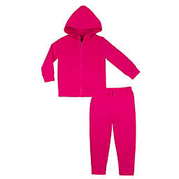 Lamaze® Newborn 2-Piece French Terry Hoodie and Jogger Set in Pink